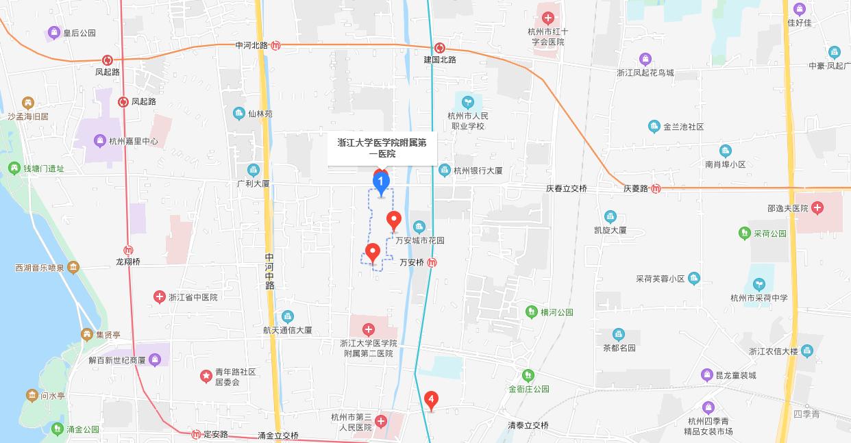 浙江大学医学院附属第一医院体检中心地图