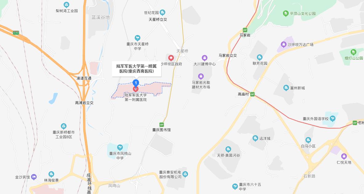 重庆西南医院地图